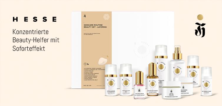 Naturkosmetik Produktlinie für Skincare Routine